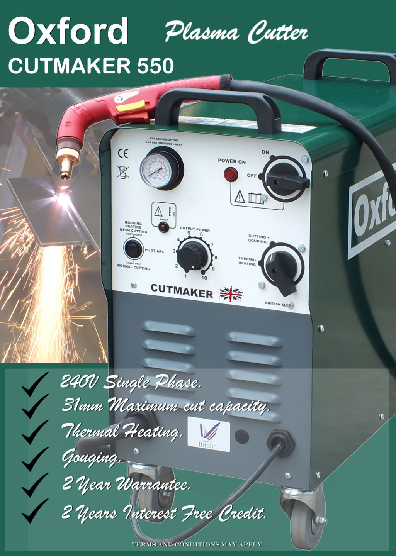 Oxford 240V Plasma Cutter - 2 Years Interest free credit