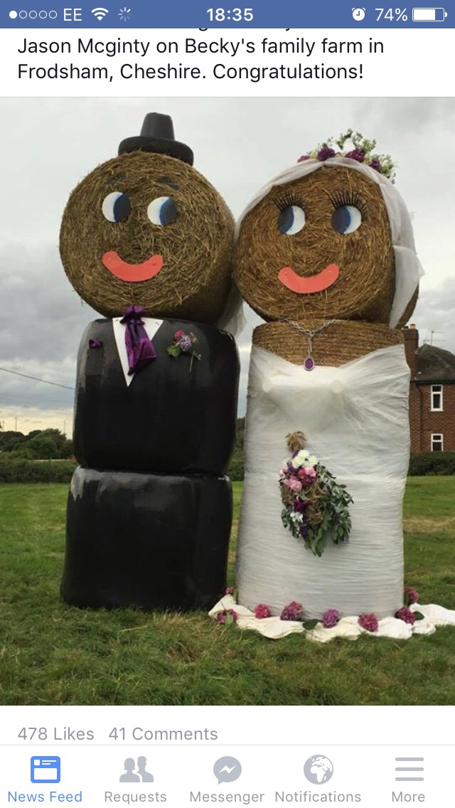 Roll of white silage bale wrap | The Farming Forum