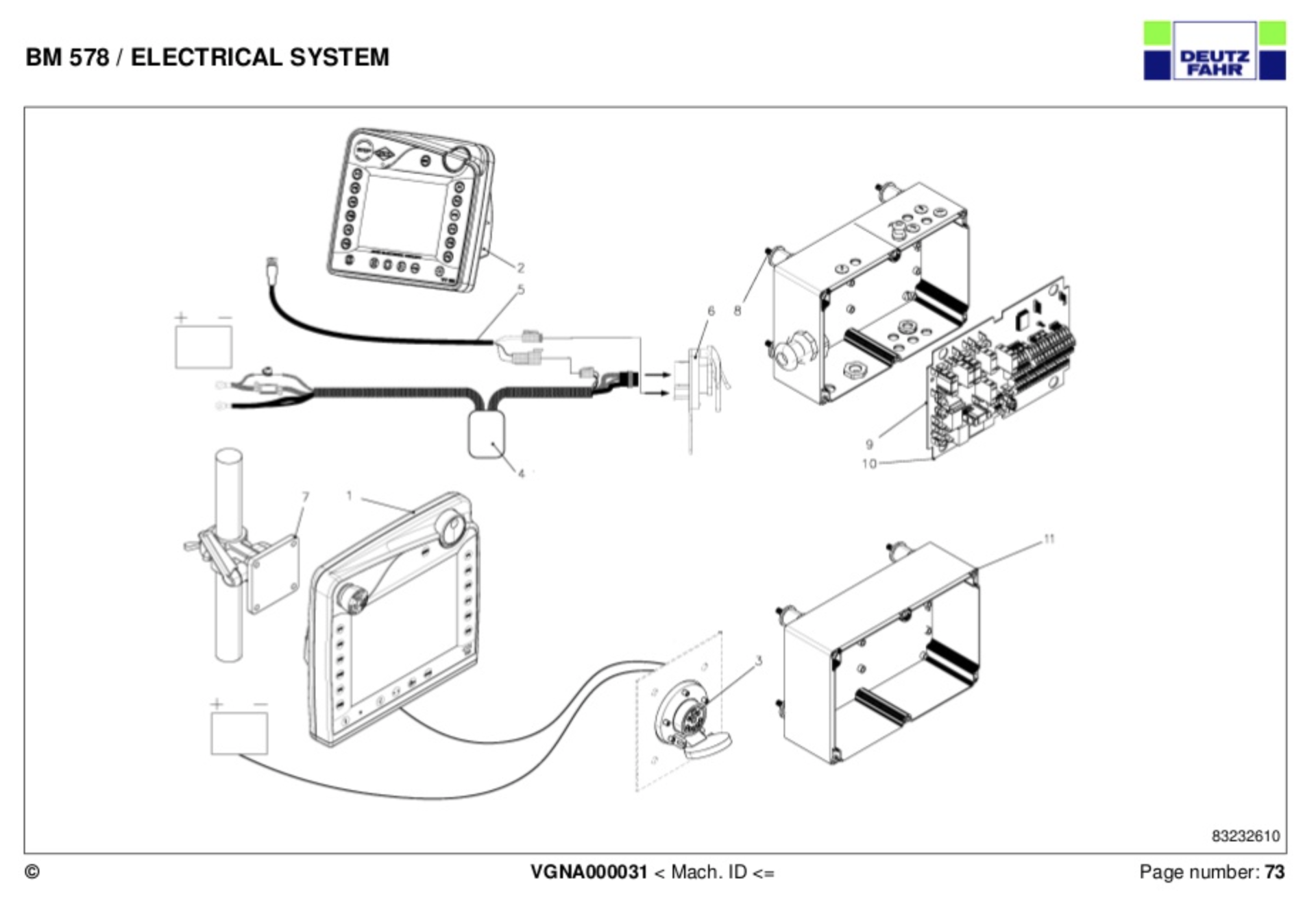 kuhn vt 50 terminal and isobus cabling help