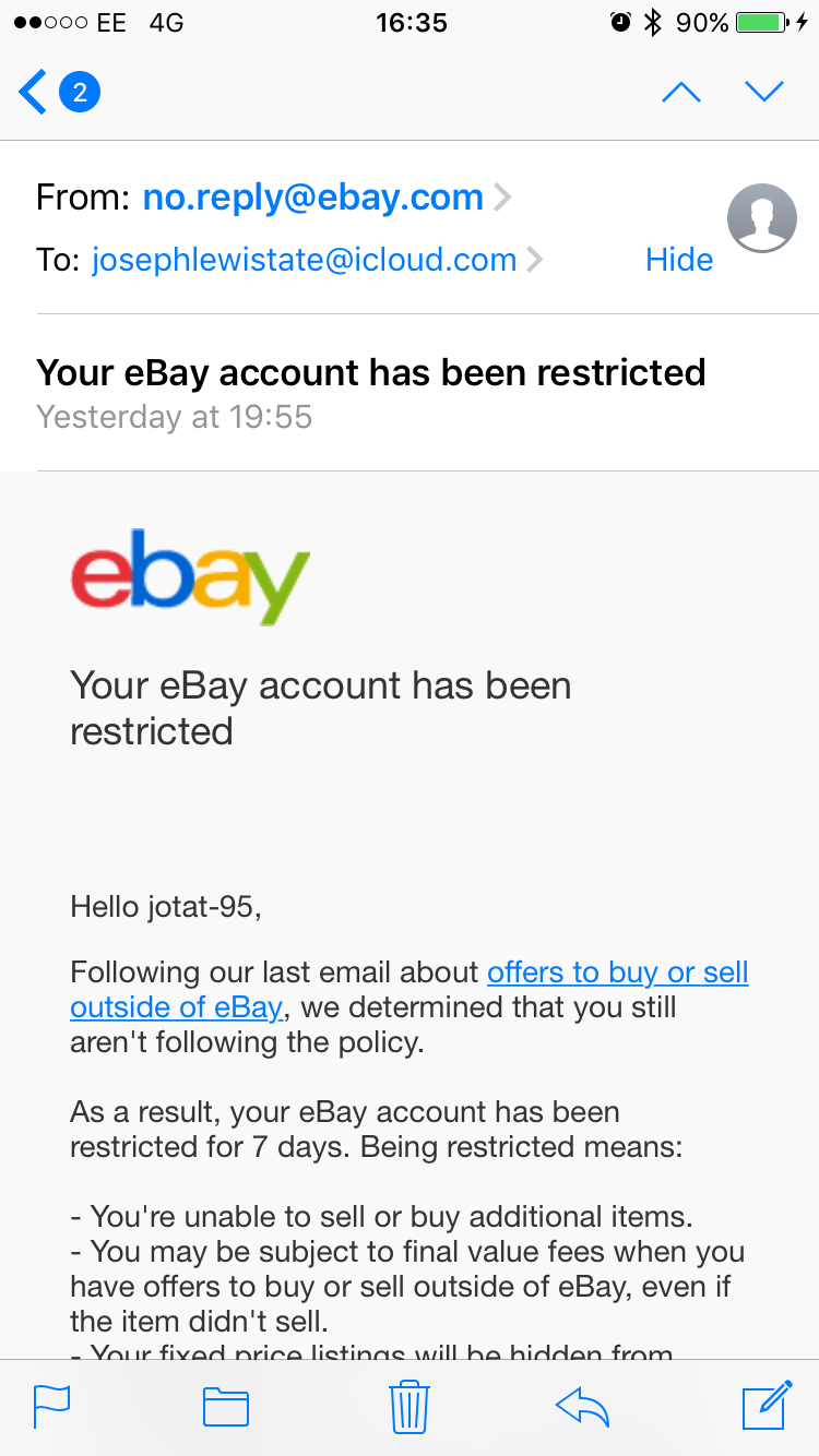 Ebay And No Contact Rule The Farming Forum