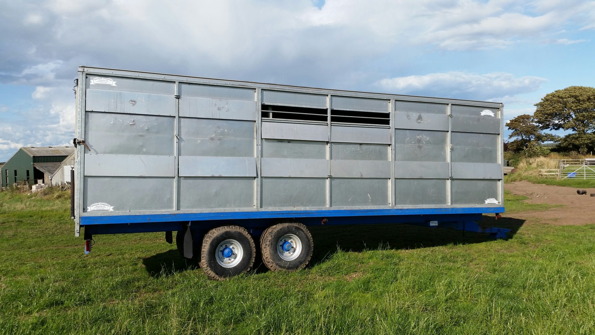 Tractor Trailer Stock : Graham edwards tractor drawn livestock trailer the