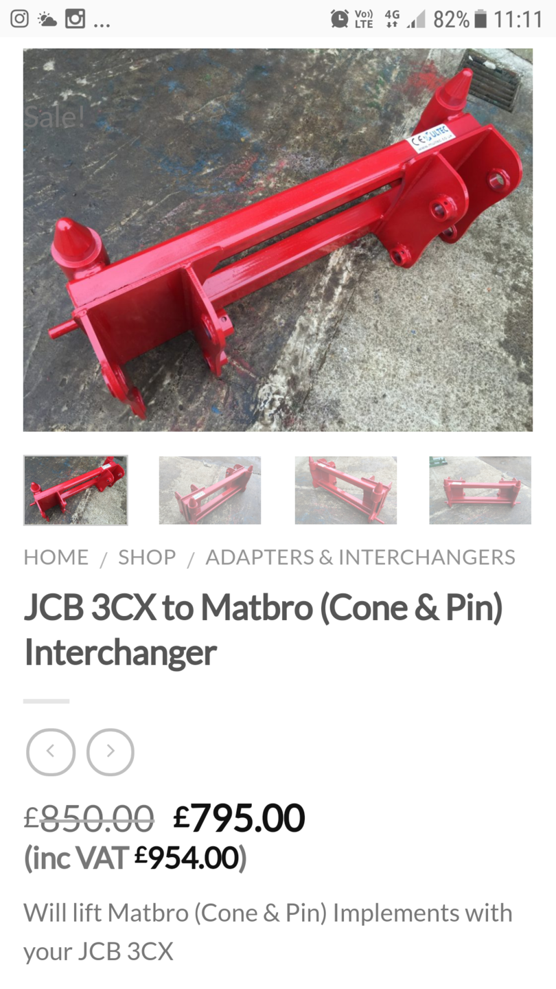 Quick hitch for JCB 3CX loader | Page 2 | The Farming Forum