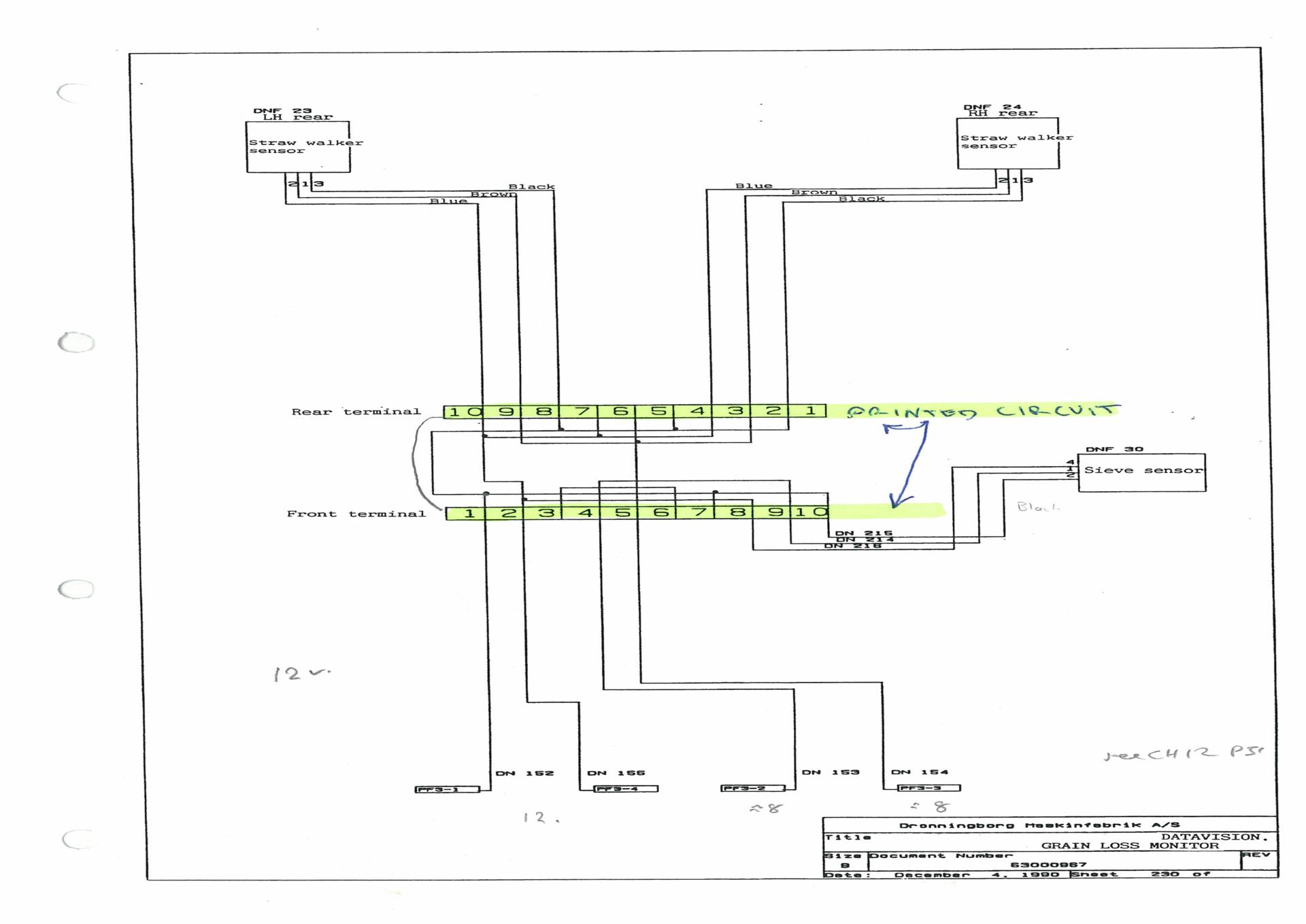 Massey 38 Combine Wiring