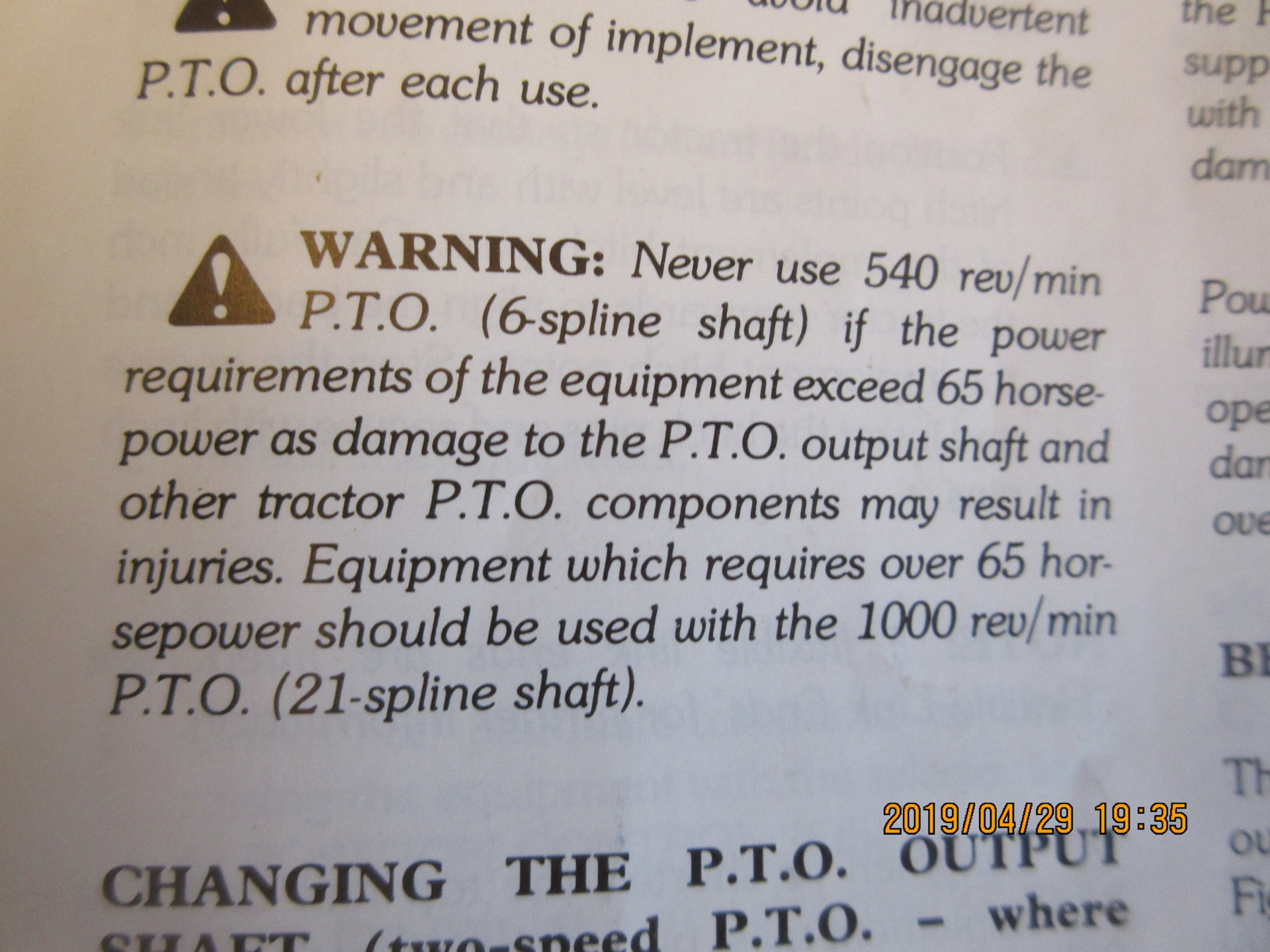 Pto speed on mower | Page 3 | The Farming Forum
