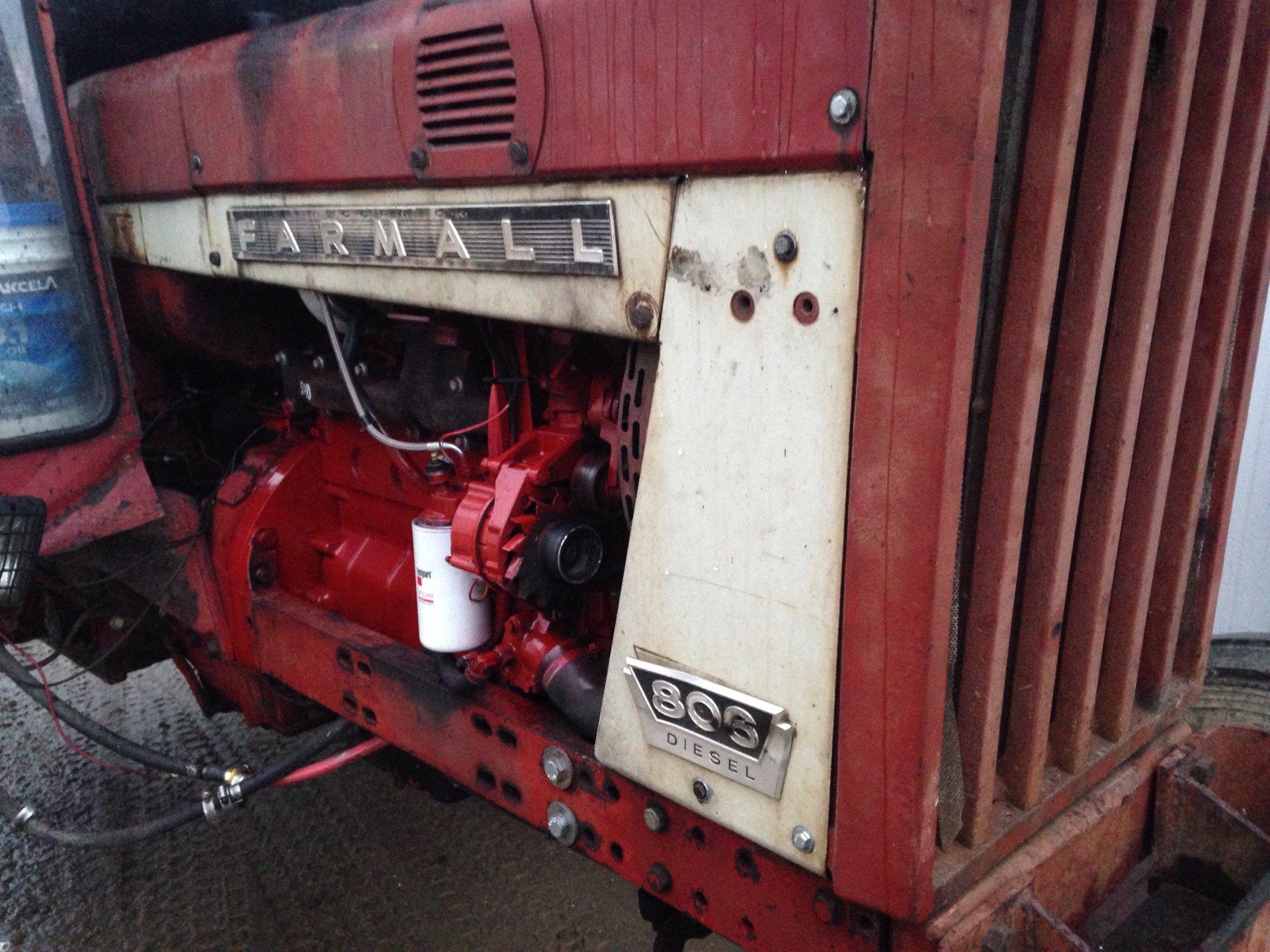 Farmall 806 engine swap to       The Farming Forum